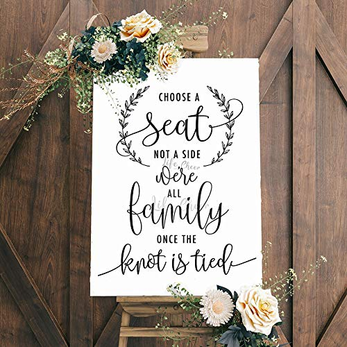 Geiqianjiumai Wedding receptie keuze stoel muur sticker citaat vinyl