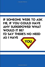 If Someone Were To Ask Me If You Could Have Any Superpower What Would It Be? I'd Say There's No Need As I Have You: Dating Notebook for Anniversary Love Ideas, Relationship Journal For Her Or Him
