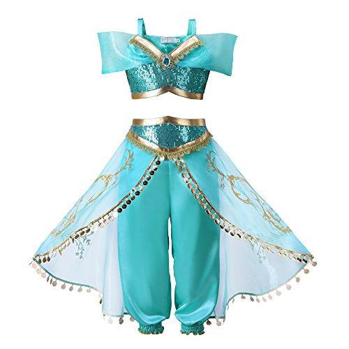 Pettigirl Nia Azul Lentejuela Clsico Princesa Vestirse Disfraz Equipar , 120cm