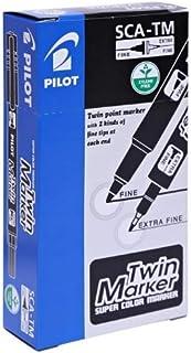 Pilot Twin Marker Black Pack of 12 Pcs