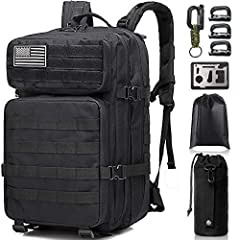 【Great Multi-Function Backpack】Monoki military tactical molle backpack is made of high density double-stitched 900D Oxford & Nylon fabric, durable water-resistant. It can be used as small 3 day assault pack, emergency backpack, bug out bag backpack, ...