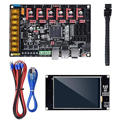 SongMyao Led-Schminkspiegel 3D-Drucker V1.1 32Bit Mainboard + TFT35 V2.0 Display + 6Pcs TMC2209 Uart Driver Kit (Color : Black, Size : One Size)