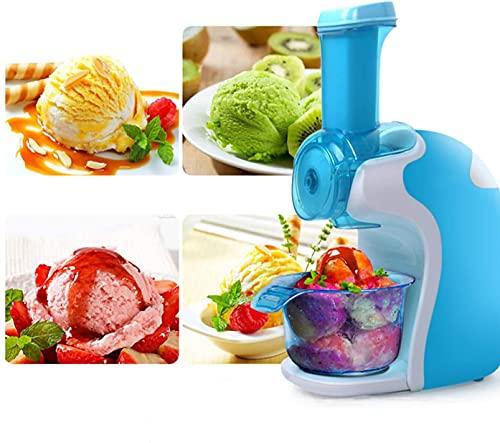 HSWYJJPFB Ice Cream Maker Maquina de Helado Heladera para el hogar, electrónica para postres de Frutas congeladas, Hacer Helados Veganos, postres, batido de Gelato, operación Simple, Color Rosa 0100