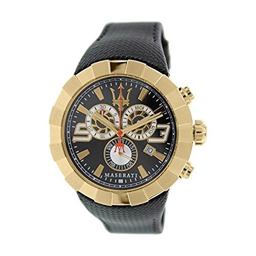 MASERATI TRIDENTE Collection - R8871603002 - Reloj de Caballero analógico (Acero Inoxidable Color Oro Rosa, Sumergible, Crono)
