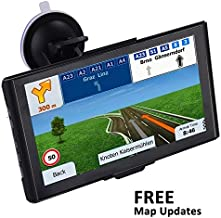 7 inch GPS Navigation for car, Vehicle GPS with Built-in 8GB Memory GPS Lifetime Maps System Update, Capacitive Big Touch Screen Truck GPS with Spoken Turn- to-Turn Traffic Alert GPS Navigator