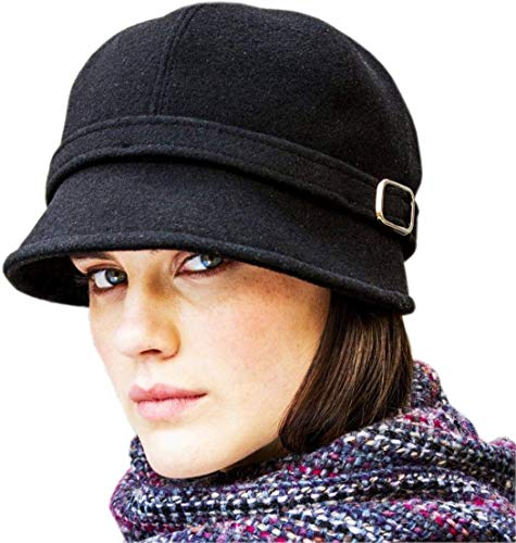 Celtic Clothing Company Ladies Flapper Hat, Downton Abbey Style, Black