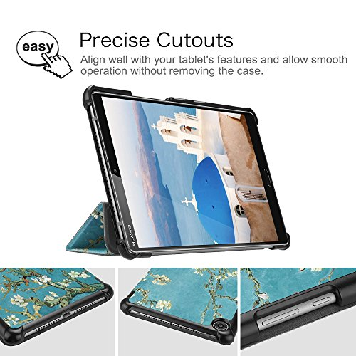 Fintie Hülle Case für Huawei Mediapad M5 8 Tablet - Ultra Dünn Superleicht SlimShell Ständer Case Cover Schutzhülle Auto Sleep/Wake Funktion für Huawei MediaPad M5 21,34 cm (8,4 Zoll), Mandelblüten - 5