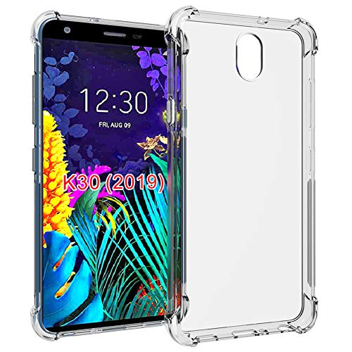 LG Arena 2 Case,LG Neon Plus/Tribute Royal/Escape Plus/K30 2019/Journey LTE case,PUSHIMEI Soft TPU Crystal Transparent Slim Anti Slip Protective Phone Case Cover for LG K30 2019(Clear Anti-shock TPU)