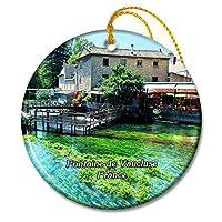 Fontaine de Vaucluse フランス La Source de La Sorgueクリスマスオーナメントセラミックシート旅行お土産ギフト
