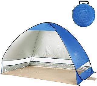 Omedelbar pop up strandtält automatisk tält bärbar utomhus camping tält fiske vandring solskydd 200 x 120 x 130 cm