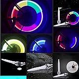 Marxways 2PCS wasserdichtes stoßfestes Fahrrad Speichenlicht Fahrrad Fahrradventil Radkappe Alarmleuchte MTB Motor Auto LED Blitz Radleuchte, verwendet für Sicherheit und Warnung Mehrfarbig