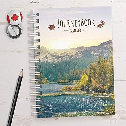 Reisetagebuch Kanada zu selberschreibenals Abschiedsgeschenk DIN A5 it aniierenden Aufgaben und Challenges und ReiseZitaten by JourneyBook