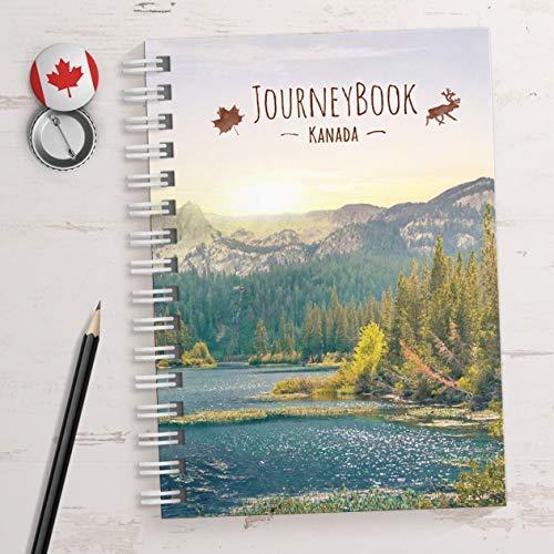 Reisetagebuch Kanada zum selberschreiben/als Abschiedsgeschenk - DIN A5 mit animierenden Aufgaben und Challenges und Reise-Zitaten