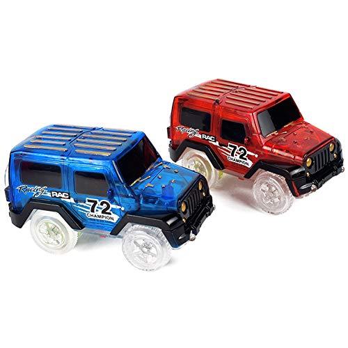 Catkoo Luz Intermitente LED Magic Track Electric Race Rail Modelo De Coche Fun Kids Toy Gift, Entrenamiento Children's Intelligence Gifts Color Aleatorio