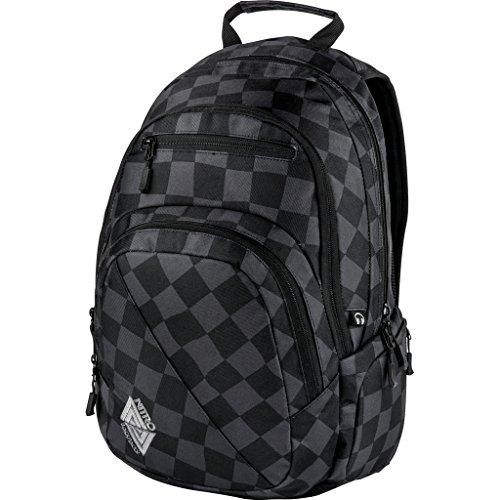 Nitro Stash Rucksack Schulrucksack Schoolbag Daypack Damenrucksack Schultasche schöne Rucksäcke Alltag Fahrradtasche, Checker, 29L