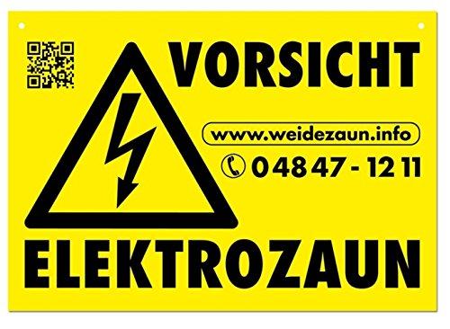 VOSS.farming 5X Warnschilder Vorsicht ELEKTROZAUN für den Weidezaun