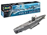 Revell-German Submarine Type IX C U67/U, Escala 1:72 Kit de Modelos de plástico,...