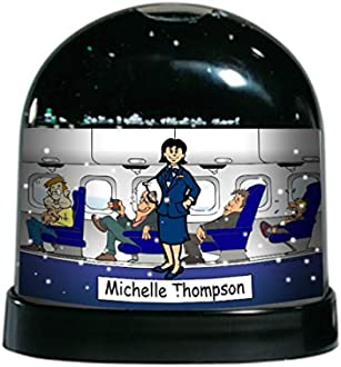 Printed Perfection Personalized Gifts Flight Attendant Female Ntt