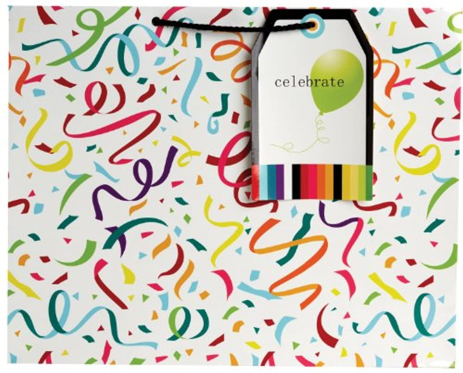 Jillson Roberts Giant Gift Bag, Confetti and Streamers, 6-Count (GT239)