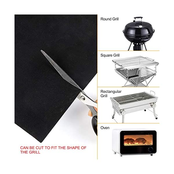 BACKTURE BBQ Grill Mat (5 pcs) 33x40 cm + 2 Brushes for Grilling and BBQ Non-Stick Grill Baking Mat Large Grill Foil… 2