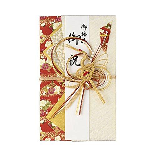 マルアイ 祝儀袋 結婚式 デザイン 和風 金鶴 赤 1枚 キ9R