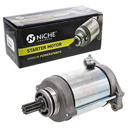 NICHE Starter Motor Assembly 31100-44D10 High Torque for Arctic Cat 400 650 Prowler XT 650 Suzuki Quad Runner Vinson 500