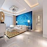 ZJFHL 3D-Tapete Erde Wandtuch tapete großes Poster für Wohnzimmer, Schlafzimmer, TV, Heimdekoration, nicht gewoben 350CMx250CM
