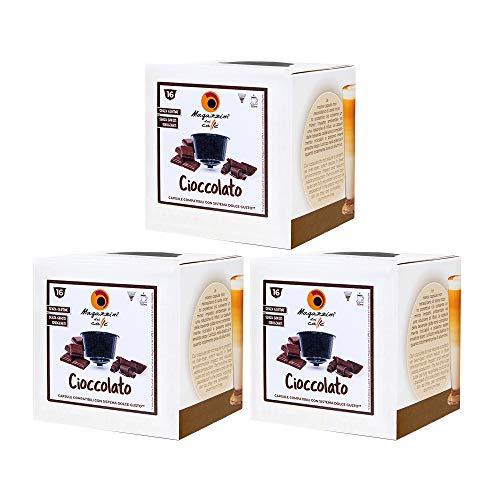 MAGAZZINI DEL CAFFE Chocolate Soluble, 48 Cápsulas Compatibles Nescafè Dolce Gusto de mezcla de Bebida con Sabor a Cacao, Made in Italy, sin OGM, sin Gluten y Grasas Hidrogenadas