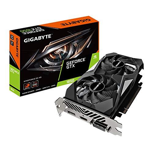 GIGABYTE GeForce GTX 1650 D6 WindForce OC 4GB GDDR6 Scheda Grafica HDMI/DP/DVI