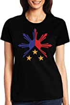 Trendy Tribal Philippines Filipino Sun Stars Flag Womens Tshirt Sports