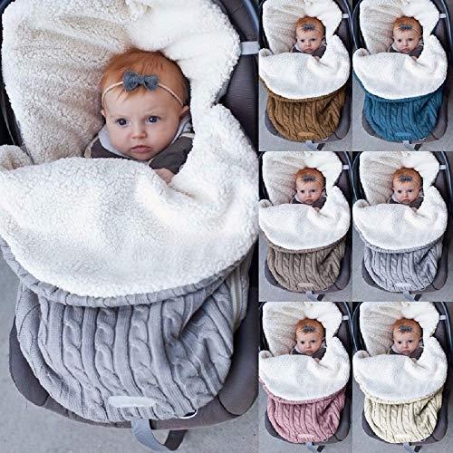 LUOWAN Newborn Baby Bag Duvet Cover Thick Baby Soft Warm Wool Blanket Stroller Sleeping Bag