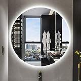 浴室用化粧鏡 LEDミラー照明浴室用ミラー、防曇機能付き、タッチボタン/時間温度表示、廊下用、寝室、ホーム