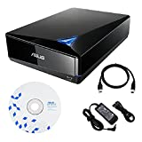 Asus BW-16D1X-U 16x External Blu-ray BDXL Drive with BD Suite Disc USB 3.0 Cable Power Adapter and Cord