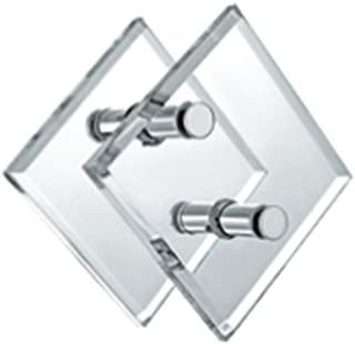 KEYI HARDWARE SUS304 Acrylic Crystal Square Glass Door Sliding Handles