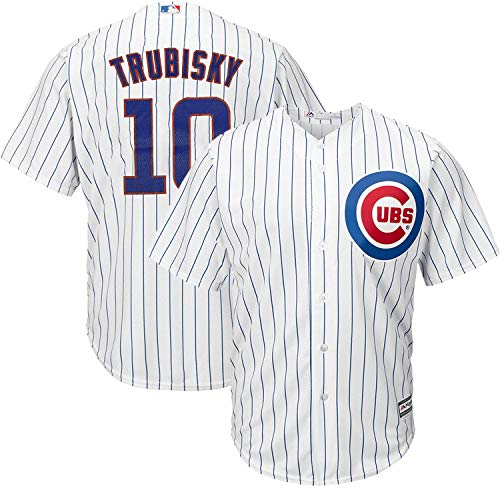 MLB X NFL Official Crossover Youth 8–20 Cool Base White Home Player Replica Jersey, Jungen, Mitchell Trubisky Chicago Cubs, 10-12