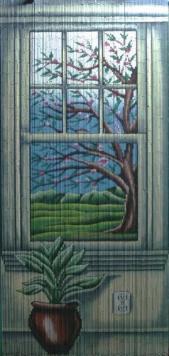 ABeadedCurtain 125 String Window View Beaded Curtain 38% More Strands Handmade with 4000 Beads (+Hanging Hardware)