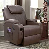 Furniwell Recliner Chair Massage Leather Living...