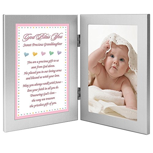 Poetry Gifts New Baby Girl or Granddaughter Baptism Gift - Add Photo