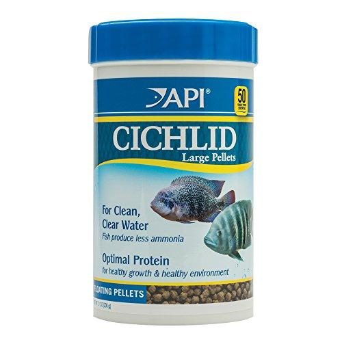 API CICHLID LARGE PELLETS Large Floating Pellets Fish Food 7.1-Ounce Container, CICHLID LARGE PELLETS 7.1 OZ