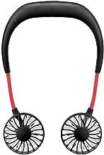 YAOHEHUA Hands-free nekband handsfree opknoping USB oplaadbare dubbele ventilator mini luchtkoeler zomer draagbaar