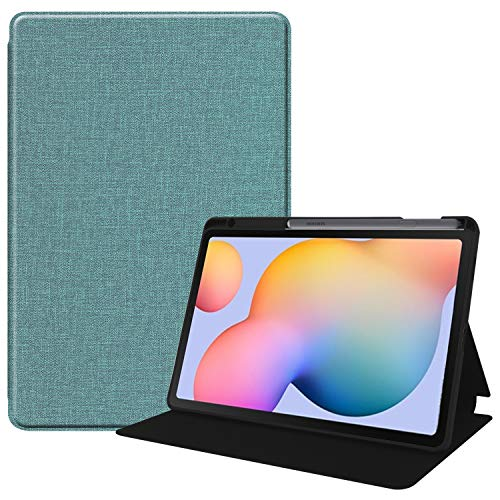 KuRoKo Galaxy Tab S6 lite 10.4 Sleep Case with Pen Holder- Ultra Slim TPU Backshell Folio Stand Cover with Multi-Viewing Angles for Galaxy Tab S6 lite 10.4 SM-P610/P615 (Mint Green)