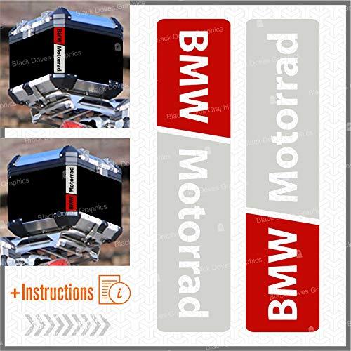 Red 2pcs Autocollant Fluorescent Motorrad R 1200 1150 F 800 650 F700 GS A R1200GS R1200 Touratech Motorcycle Aluminium Panniers Top Case