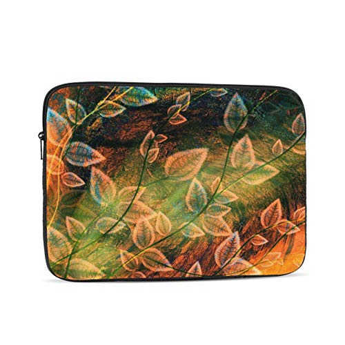Leaves Fall Pattern Laptop Sleeve 17 inch, Shock Resistant Notebook Briefcase, Computer Protective Bag, Tablet Carrying Case for MacBook Pro/MacBook Air/Asus/Dell/Lenovo/Hp/Samsung/Sony
