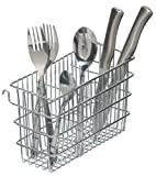 KitchenCraft Cutlery Drainer Caddy with Hooks, Metal