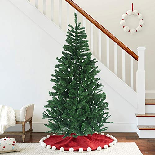 MAGGIFT 7.5 ft Artificial Christmas Tree Upgrade Fake Xmas Tree with Durable Metal Legs, Home Holiday Christmas Decorations, Easy Assembly 1350 Tips