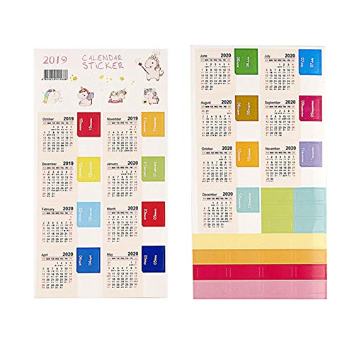 Aoliao 2020 To 2021 Year Calendar Index Sticker Diary Handbook Classification Labels