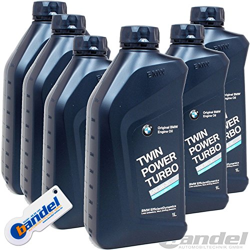 [EUR 9,97/1L] 6 x 1L BMW originale, W-40 30 Twin Power Turbo Longlife 04 LL 04