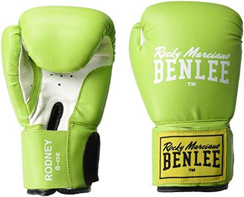 BenLee Rocky Marciano Rodney - Guante de boxeo (PVC), color verde, talla 12