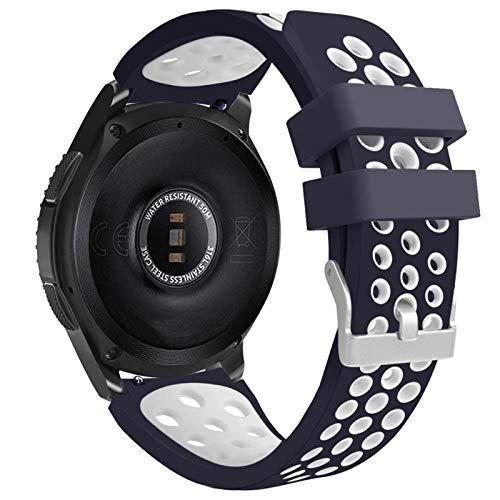 DALIANMAO Correa de reloj de silicona para Huawei Watch, correa de repuesto de 22 mm (color de la correa: 1, ancho de la correa: 22 mm)