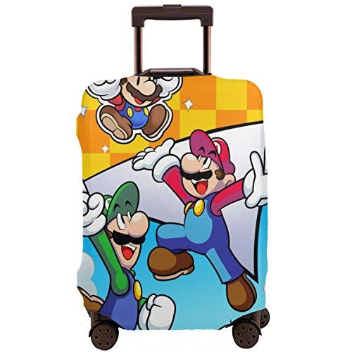 Funda para equipaje de viaje, color anime Super Smash Bros Mario maleta, fundas protectoras con cremallera, lavables